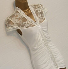 BNWT JANE NORMAN Cream Lace Top Ruched Body Mock Hook n Eye Corset Size 10