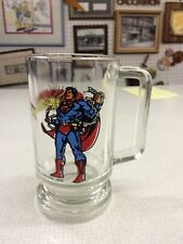 vintage 1978 dc comics SUPERMAN glass mug stein