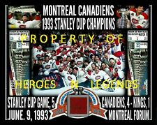 11x14 * MONTREAL CANADIENS JUNE 9 1993 STANLEY CUP CHAMPIONS MONTREAL FORUM SEAT
