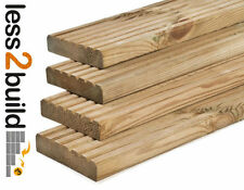 A GRADE TREATED DECKING BOARDS 38x125mm 4.8M Long NATURAL Timber Decking Garden