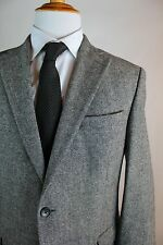 Austin Reed Signature Gray Suit Mens Size 42R (36x27) Flat Front Wool Nylon