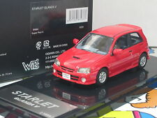 Toyota Starlet Glanza V Turbo EP91 1998 red 1/43 WITs Resin