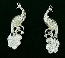 Peacock  Charms Sterling 3/D Large  Right/Left Perfect for Earrings