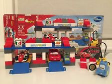 Lego Duplo Cars Disney Pixar The Pit Stop 5829 SET 2-5 Pieces in Box Incomplete