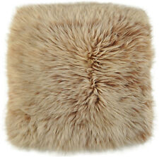 UK LAMMFELL PAD SITZAUFLAGE  37 x 37 cm GOLDBRAUN FOX SNOW TOP LAMBSKIN PAD
