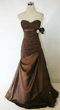 NWT ALYCE DESIGNS $458 NUTMEG BROWN Party Prom Gown 14