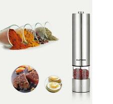Electric Salt & Pepper Mill Grinder Electronic Shaker Stainless Steel Pot