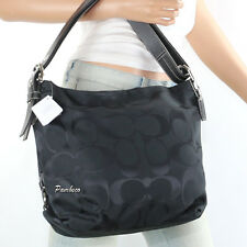NWT Coach 24 CM Signature Duffle Shoulder Bag Crossbody Bag F15067 Black