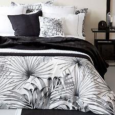 Zara home noir blanc palm imprimer coton taille king housse de couette