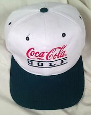 Coca Cola GOLF Ball Cap Hat Snapback Green White 6 Panel