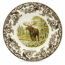 "Dinner Plate, Thanksgiving Day, Spode Woodland Majestic Moose, 10.5"" in"