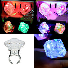 1X Party Night Accessories Large Flashing Diamond Ring Bride To Be Gift Popular