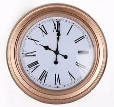 60cm Rose Gold Copper Round Antique Style Roman Numeral Wall Hanging Clock
