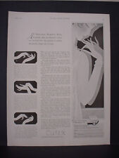 1925 Cutex Nail Care Deauville Biarritz Nice Cannes etc Vintage Print Ad 11802