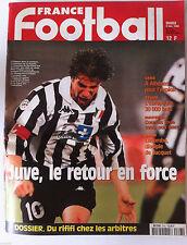 France Football du 3/11/1998; Juve, le retour/ Dossier Arbitres/ Lens/ Lyon/ OM