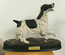 BESWICK THE SPANIEL BLACK & WHITE ON BASE MODEL  ***** EXCELLANT CONDITION *****
