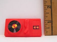 OLDER BARBIE ARCO 1990S RED RECORD PLAYER ACCESSORY PRE-OWNED