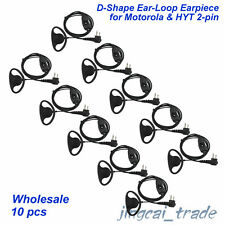 Wholesale 10 x D-Shape PTT Ear-Loop Earpiece for Motorola GP300 CP200 HYT TC700