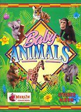 """MERLIN: ALBUM FIGURINE """"Baby Animals"""" - COMPLETO (+ 15 cuccioli)"""