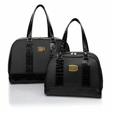 JOY Mangano Luggage Light Carry-On and Tote Weekender Getaway 2 Piece Set Black