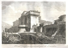 Abbazia di Grottaferrata 1850 acquaforte Cottafavi