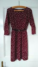 Gap Burgundy Vintage Floral Print Dress Size S