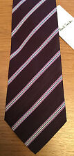 "Paul Smith MULTISTRIPE DAMSON Tie ""MAINLINE"" 9cm Blade Made in Italy"