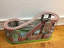 VINTAGE J CHEIN TOY ROLLER COASTER TIN LITHOGRAPH WIND UP MECHANISM 1950'S