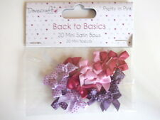 Dovecraft Back To Basics Pretty In Pink 20 Mini Satin Ribbon Bows - purple