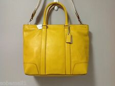 LAST ONE Coach Bleecker Legacy Leather Business Tote in Squash Style F70600