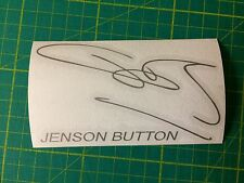 JENSON BUTTON SIGNATURE DECAL STICKER F1 WORLD CHAMPION