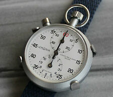 NOS VINTAGE LEMANIA WRIST FLYBACK STOPWATCH STOPPUHR AUTAVIA RALLY MONTE CARLO