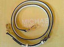 """Michael Kors Gold / Off White Leather Replacement Shoulder Crossbody Strap 51"""""""