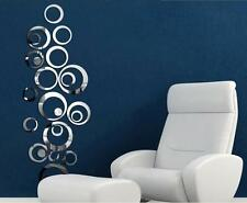 Mirror wall stickers circles, lovely home decoration acrylic mirror effect