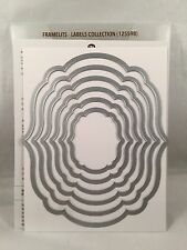 LABELS COLLECTION FRAMELITS Stampin Up New Apothecary Art Big Shot Sizzix