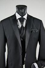 Abito elegante cerimonia uomo Musani Milano nero lana stretch drop 6 taglia 48