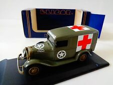 ELIGOR DIECAST- 1934 FORD V8  ARMY AMBULANCE -W/ CASE-1:43 SCALE-NIB