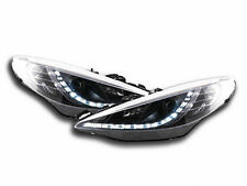 Peugeot 207 (2006-2013) Black LED DRL Daylight Running Headlights RHD Pair NEW
