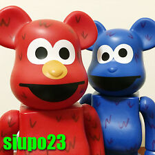 Medicom 400% Bearbrick ~ Elmo & Cookie Monster Be@rbrick Sesame Street 2p