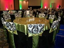 """50 Damask Chair Caps 16""""x14"""" Flocked 3D for Banquet Square Top Chivari Cover"""