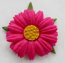 100! Large Handmade Mulberry Paper Daisies - Fuchsia Pink Daisy Flower 4cm/1.5""