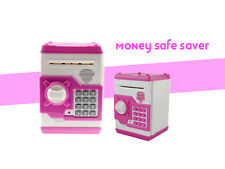Money Note Coin Safe Piggy Saving Bank ATM Machine Locker Open with Secret Code