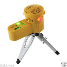 Multifunction Laser Level Leveler W/Tripod Folding Vertical Horizontal Line Tool