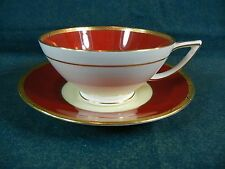 Minton Crimson Ivory Pattern Number H2771 Cup and Saucer Set(s) San Francisco