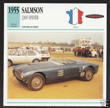 1955 Salmson 2300 (2300S) Spider Race Car Photo Spec Sheet Info Stat French Card