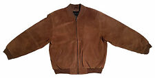 CROFT & BARROW Men's [M] Suede Leather Baseball Jacket