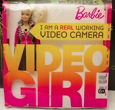 Barbie Video Girl Doll Color LCD Screen Untested Missing USB Cable Blonde
