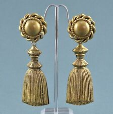 Vintage Earrings BUTLER & WILSON 1980s Goldtone Tassel Drops Bridal Jewellery