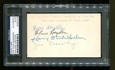 The Four Horsemen of Notre Dame Signed Autographed  Index Card 3x5 PSA/DNA Rare