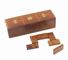 Jeu de dominos marin COULEURMER - bois et laiton - décoration -